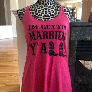 Ladies Long Tank sz L